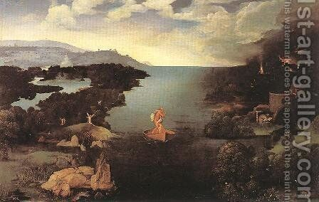 Charon by Joachim Patenier (Patinir) - Reproduction Oil Painting