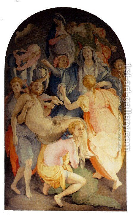 Deposition by (Jacopo Carucci) Pontormo - Reproduction Oil Painting
