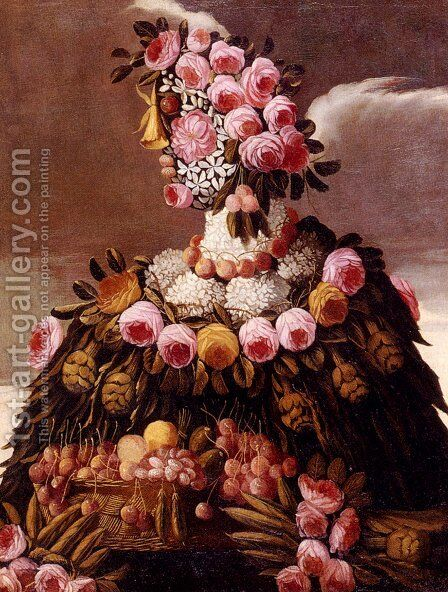The Seasons Pic 2 by Giuseppe Arcimboldo - Reproduction Oil Painting