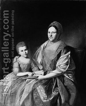 Mrs. Samuel Mifflin and Her Granddaughter Rebecca Mifflin Francis by Charles Willson Peale - Reproduction Oil Painting