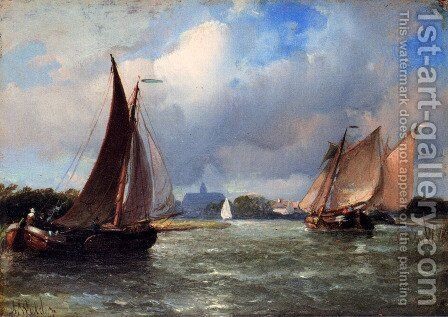 Bomschuiten Heading For Shore by Antonie Waldorp - Reproduction Oil Painting