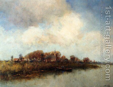 Landscape Near Noorden by Jan Hillebrand Wijsmuller - Reproduction Oil Painting