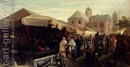 A Visit At The Fair In Utrecht by Charles Rochussen - Reproduction Oil Painting