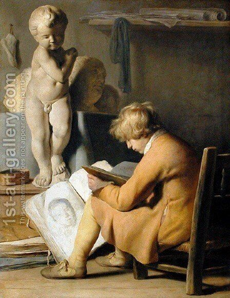 The Young Artist by Jan Lievens - Reproduction Oil Painting