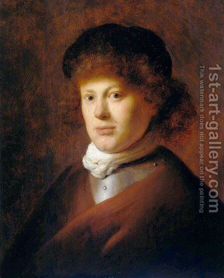 Portrait of Rembrandt by Jan Lievens - Reproduction Oil Painting