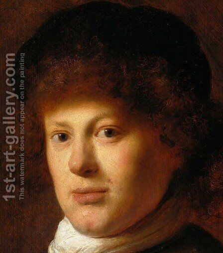Portrait of Rembrandt [detail #1] by Jan Lievens - Reproduction Oil Painting