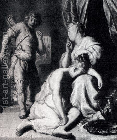 Samson and Delilah by Jan Lievens - Reproduction Oil Painting