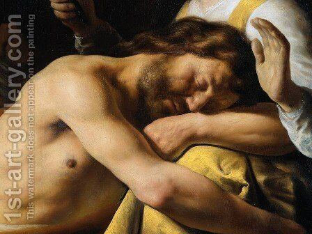 Samson and Delilah [detail #2] by Jan Lievens - Reproduction Oil Painting