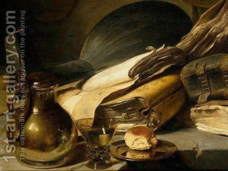 Vanitas Still Life [detail #1] by Jan Lievens - Reproduction Oil Painting