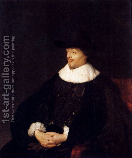 Portrait Of Constantijn Huygens by Jan Lievens - Reproduction Oil Painting