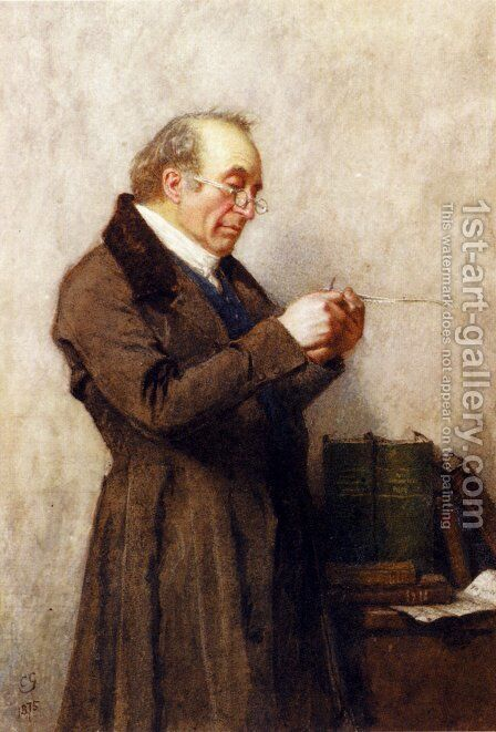 The Schoolmaster by Charles Green - Reproduction Oil Painting