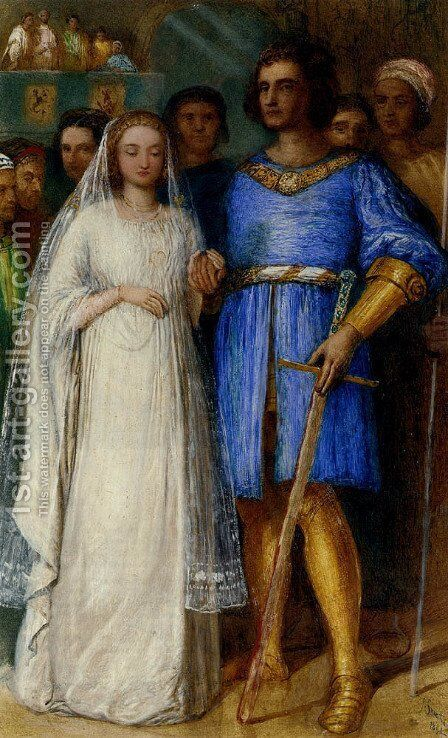 The Knight's Bridal by James Smetham - Reproduction Oil Painting