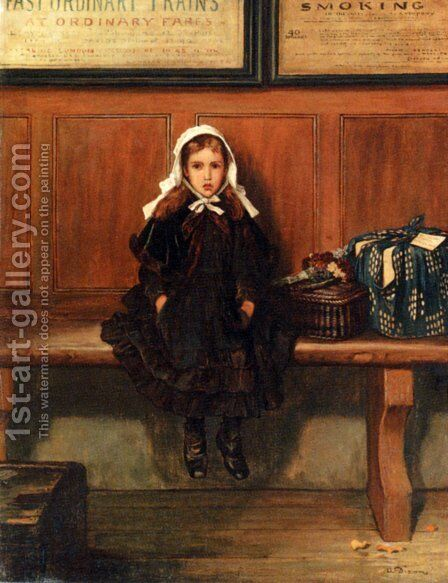 Waiting by Alfred Dixon - Reproduction Oil Painting