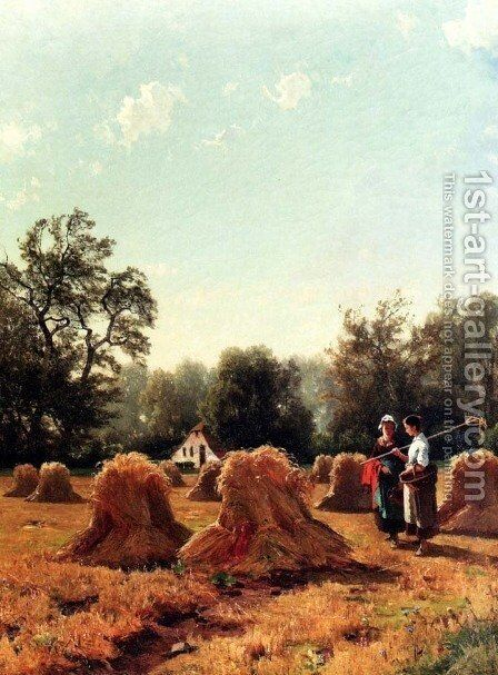 The Harvesters: An Allegory Of Summer by Jacobus Nicolaas Tjarda Van Stachouwer - Reproduction Oil Painting