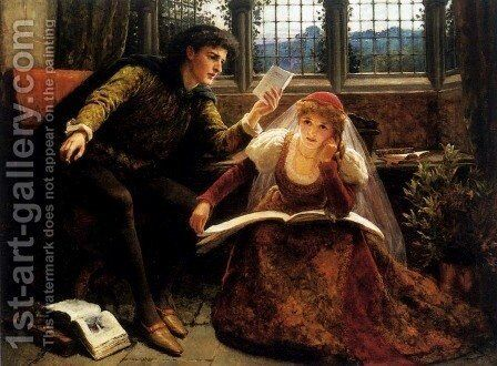 The Poem by Mary Evelina Kindon - Reproduction Oil Painting