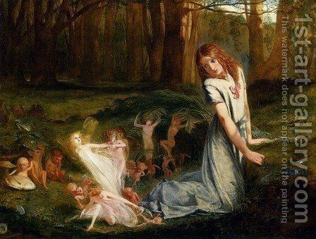 A Glimpse Of The Fairies by Charles Hutton Lear - Reproduction Oil Painting