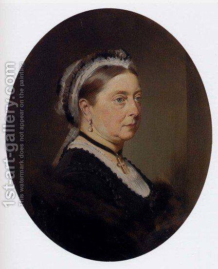 Queen Victoria by Baron Heinrich von Angeli - Reproduction Oil Painting