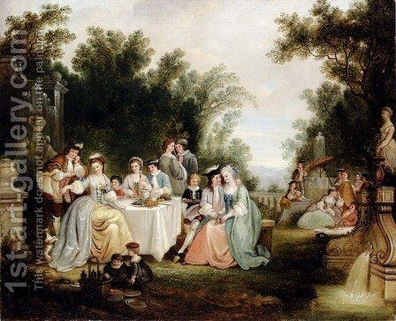 The Wedding Feast by Henry Andrews - Reproduction Oil Painting