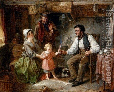 The Proud Mother by James Stephenson Craig - Reproduction Oil Painting