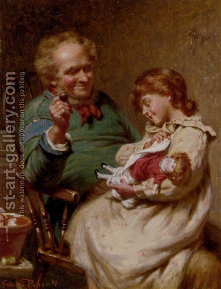 The Proud Little Mother by Edwin Thomas Roberts - Reproduction Oil Painting