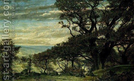 from Wharncliffe Crags Looking Towards The Derbyshire Moors by Archibald James Stuart Wortley - Reproduction Oil Painting