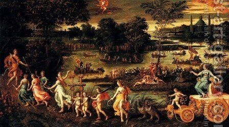 An Allegory Of The Triumph Of Summer by Antoine Caron - Reproduction Oil Painting