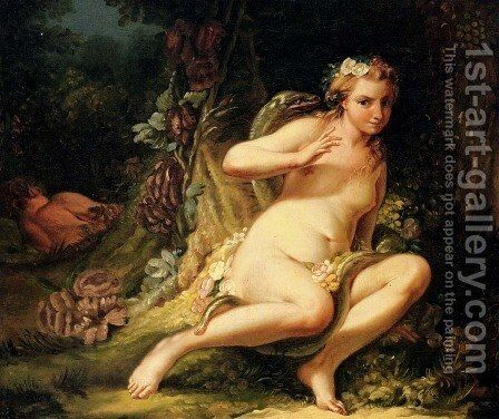The Temptation Of Eve by Jean-Baptiste-Marie Pierre - Reproduction Oil Painting