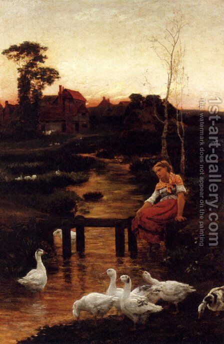 Goosey, Goosey Gander by Alice Mary Havers - Reproduction Oil Painting