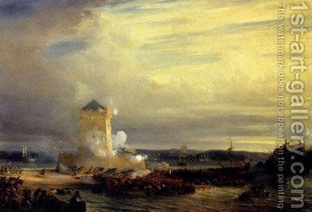 The English Landing At Calais by Theodore Gudin - Reproduction Oil Painting