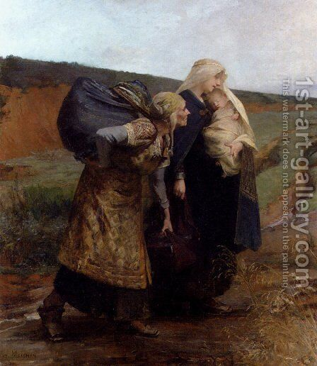 Audovere Repudie by Albert Pierre Rene Maignan - Reproduction Oil Painting