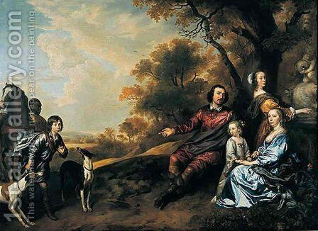 Family group portrait by Jan Mytens - Reproduction Oil Painting