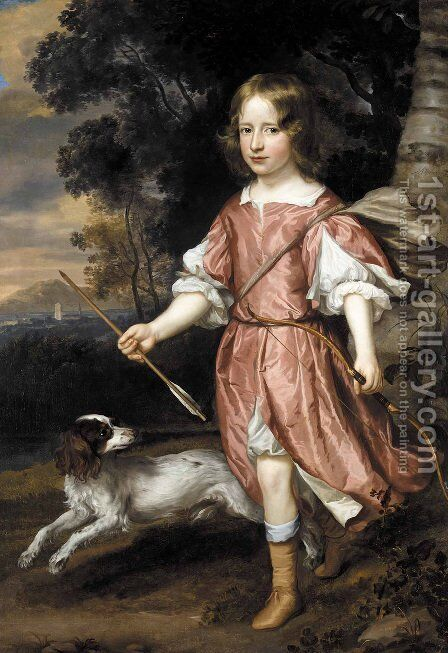 Portrait of the son of a nobleman as Cupid by Jan Mytens - Reproduction Oil Painting