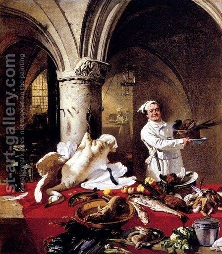 Les Preparatifs Du Festin by Charles Hoguet - Reproduction Oil Painting
