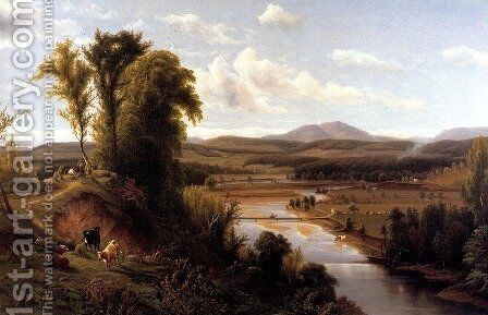 Connecticut River Valley, Vermont by Max Eglau - Reproduction Oil Painting
