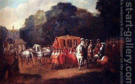 William III's Procession To The Houses Of Parliament by Alexander Van Gaelen - Reproduction Oil Painting