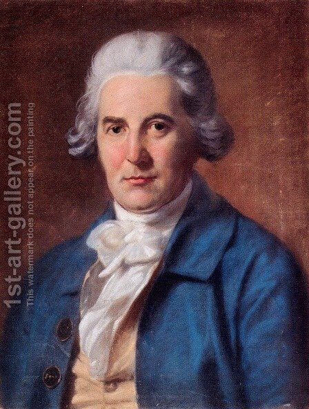 Portrait Of Francis Seymour Conway, Marquis Of Hertford (1719-1794) by Hugh Douglas Hamilton - Reproduction Oil Painting