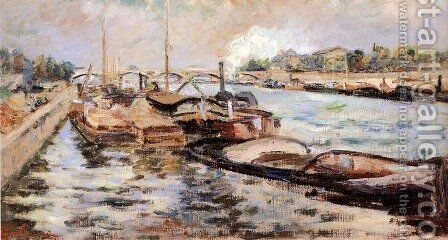 The Seine by Armand Guillaumin - Reproduction Oil Painting