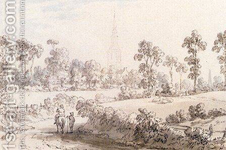 A Folio Of Watercolours And Drawings (Pic 2) by Anthony Devis - Reproduction Oil Painting