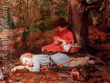 The Bivouac by Charles Lucy - Reproduction Oil Painting
