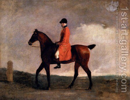 A Hunt Servant by Ben Marshall - Reproduction Oil Painting