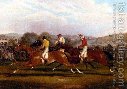 Down The Stretch by Alfred F. De Prades - Reproduction Oil Painting