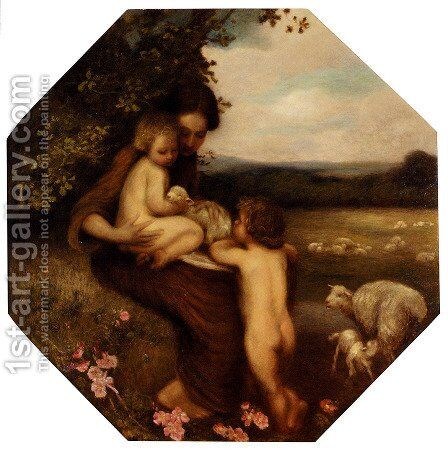 Motherhood by Edward Stott - Reproduction Oil Painting