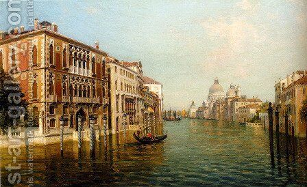 The Grand Canal Venice by Bernard Hay - Reproduction Oil Painting