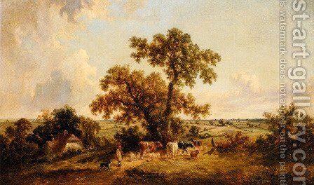 The Young Herdsman by James Edwin Meadows - Reproduction Oil Painting