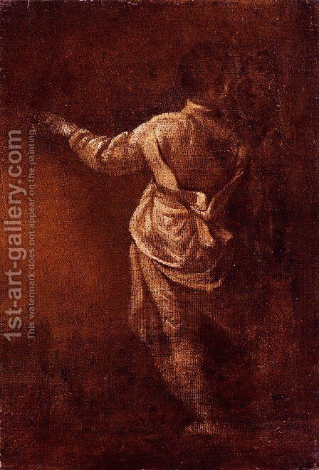 Study Of A Young Boy, Seen From Behind by Donato Creti - Reproduction Oil Painting