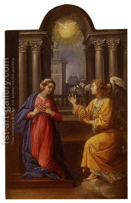 The Annunciation by Giuseppe (d'Arpino) Cesari (Cavaliere) - Reproduction Oil Painting