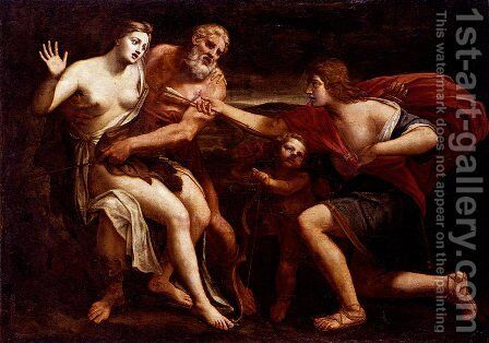 Cephalus And Procris by Alessandro Turchi (Orbetto) - Reproduction Oil Painting