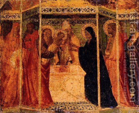 Presentation Of Christ In The Temple by Agnolo Gaddi - Reproduction Oil Painting