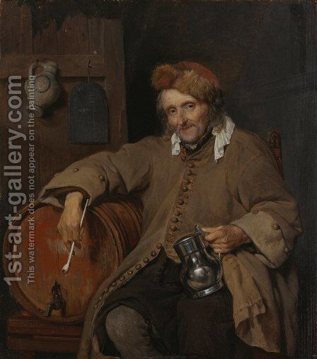 The Old Drinker by Gabriel Metsu - Reproduction Oil Painting