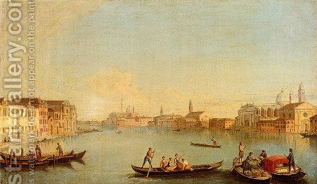 View Of San Giorgio Maggiore Seen From The South, Venice by Johann Richter - Reproduction Oil Painting